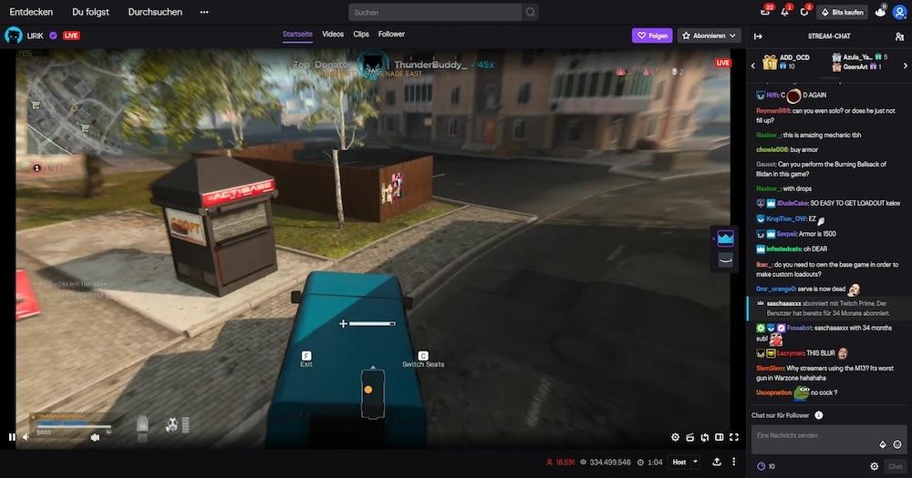 Streamer Lirik demonstriert, wie mühelos Call of Duty: Modern Warfare für tausende Zuschauer sichtbar auf seinem PC-Setup läuft