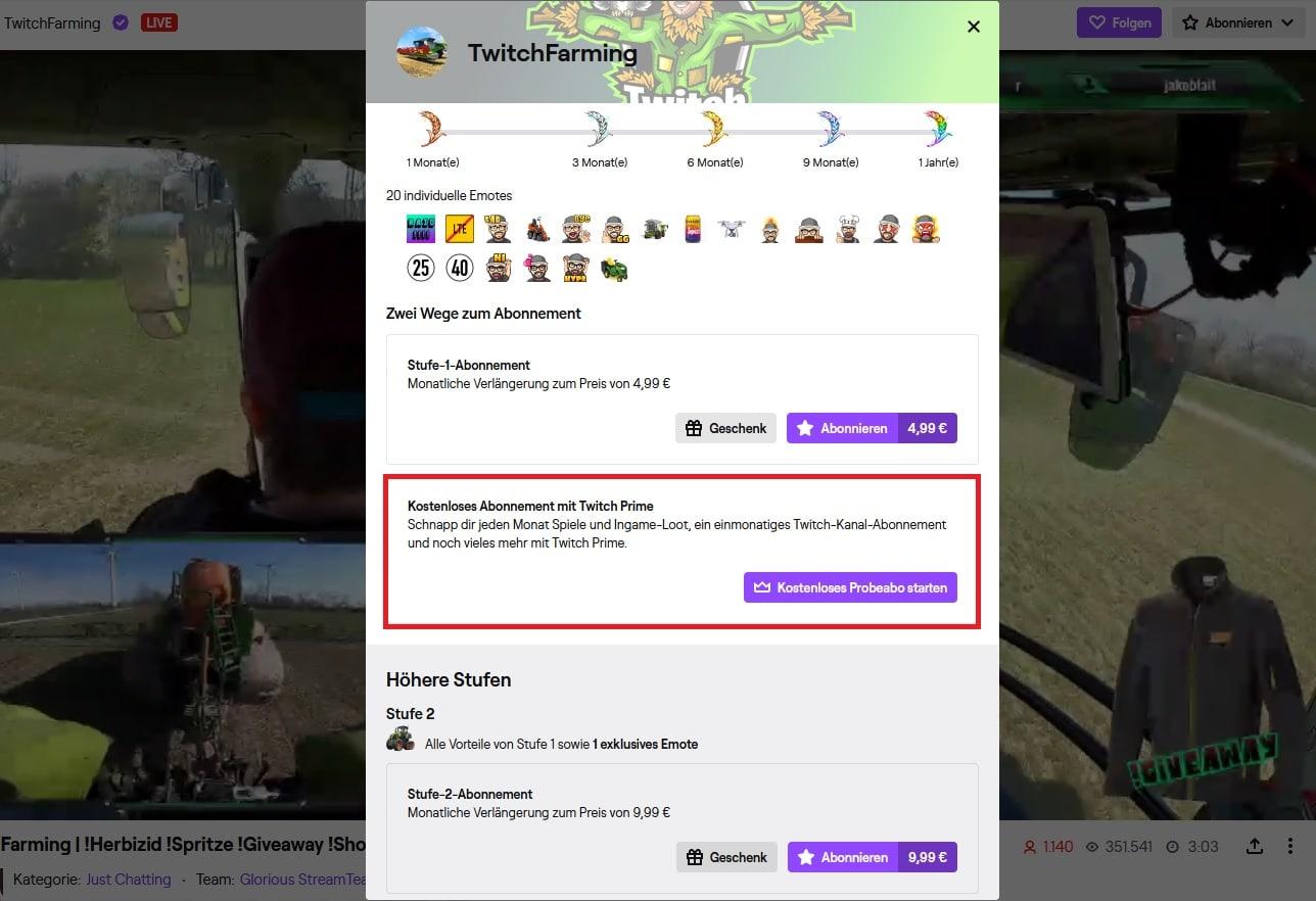 Was ist Twitch Prime – Einen Kanal für 30 Tage unterstützen