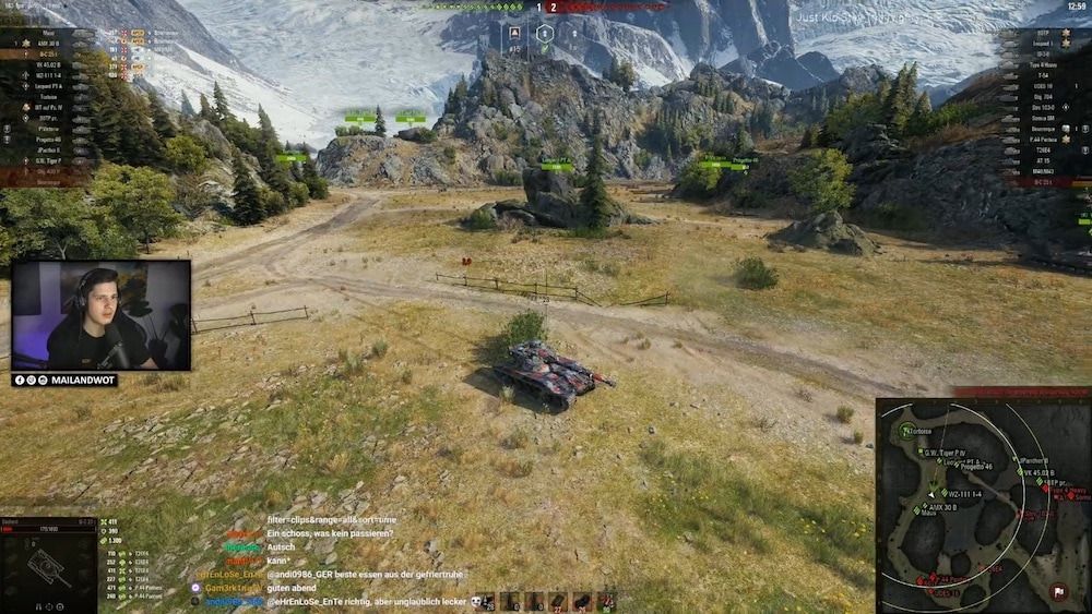 Streamer mailand auf der Jagd mit seinem Panzer