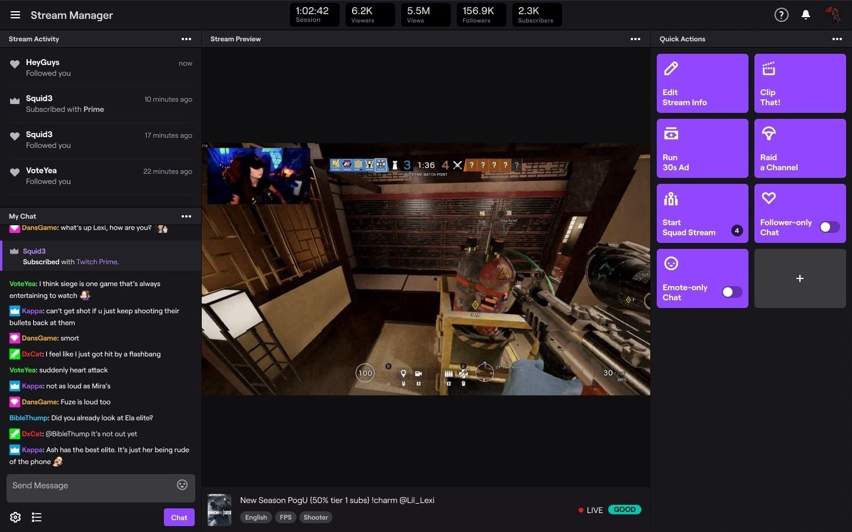 Der Stream-Manager von Twitch an einem Beispiel