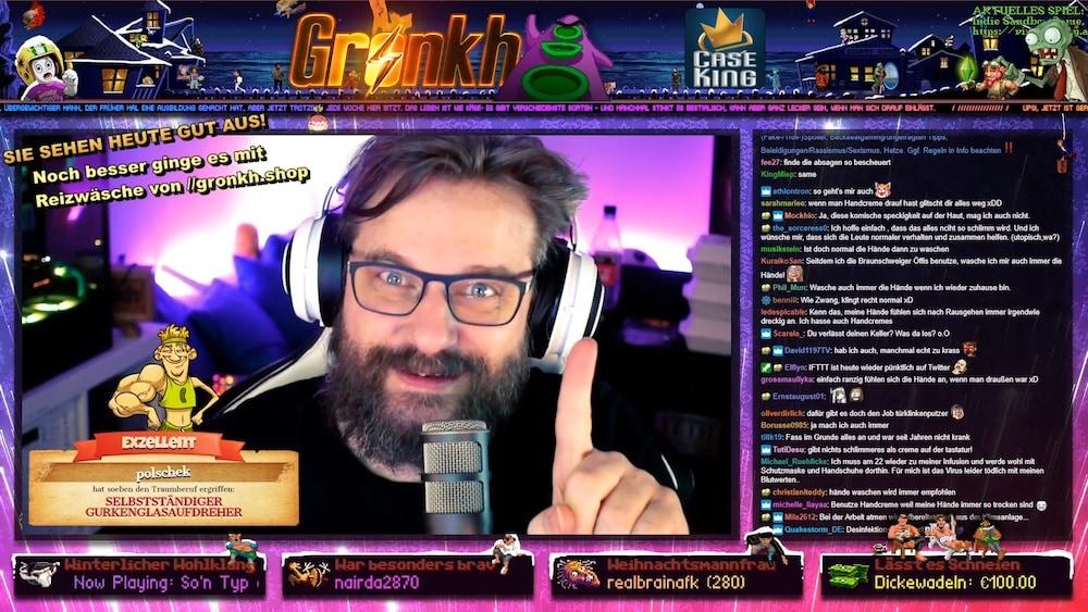 Gronkh kommuniziert direkt mit seinen Fans