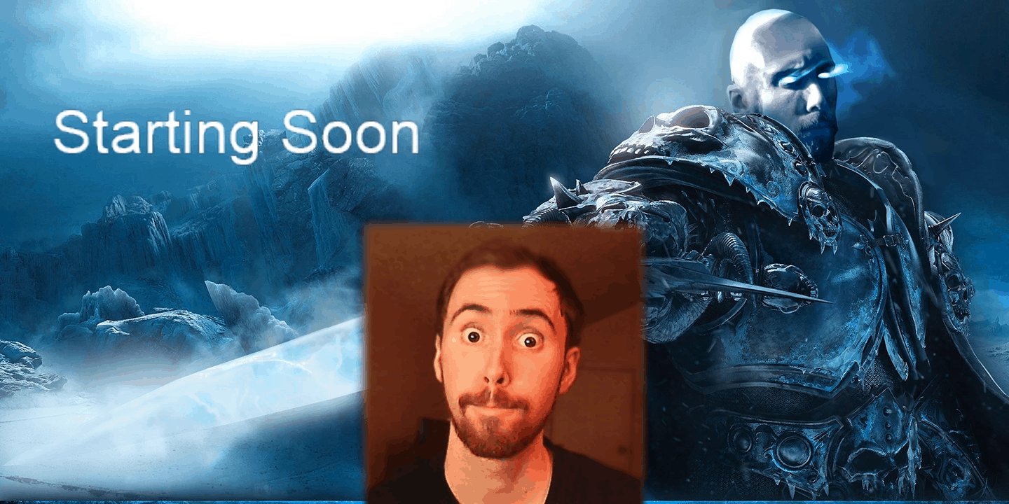 Der Twitch Streamer als Lich King von World of Warcraft