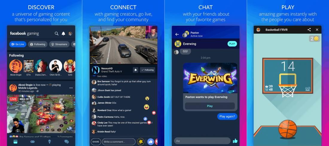 Offizielle Screenshots der Facebook Gaming App