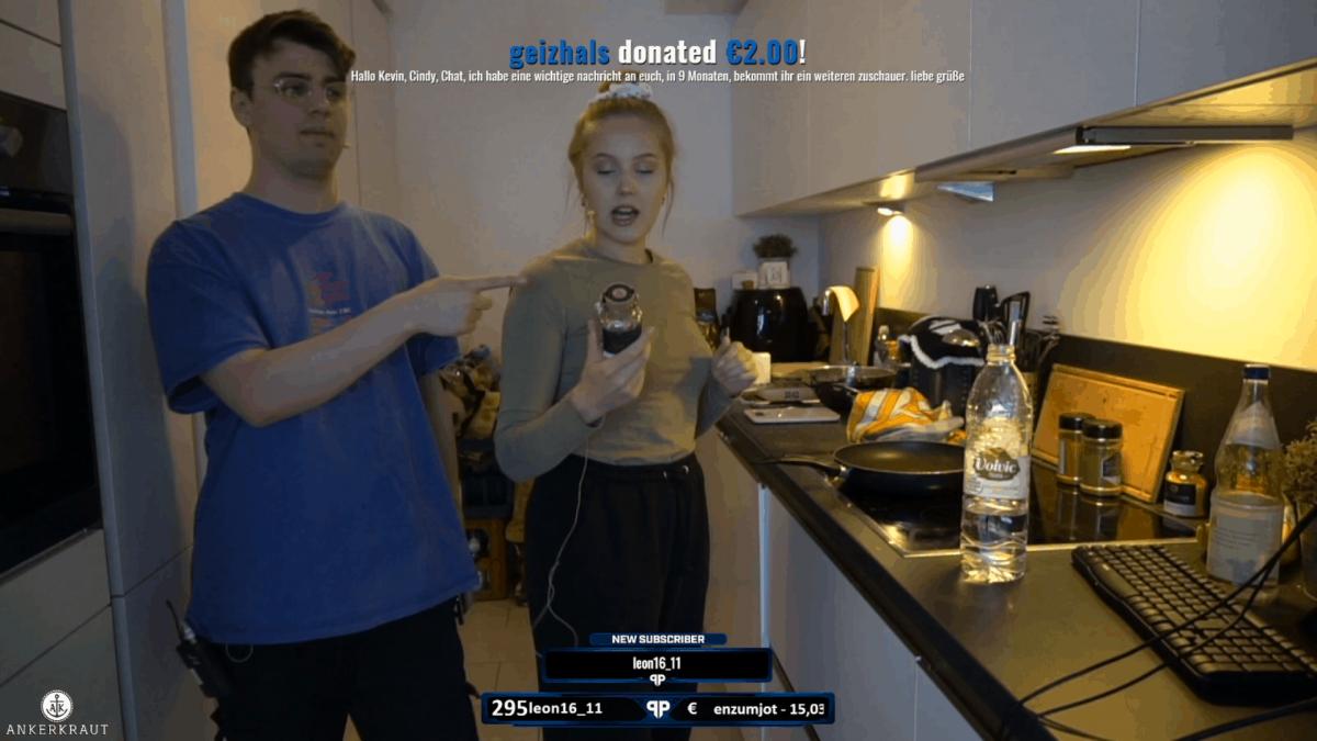 Twitch Spenden live als Pop-up im Stream
