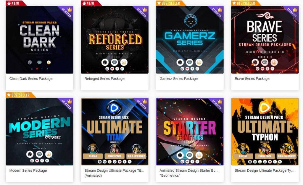 Top Twitch Overlay Design Beispiele von owned.tv