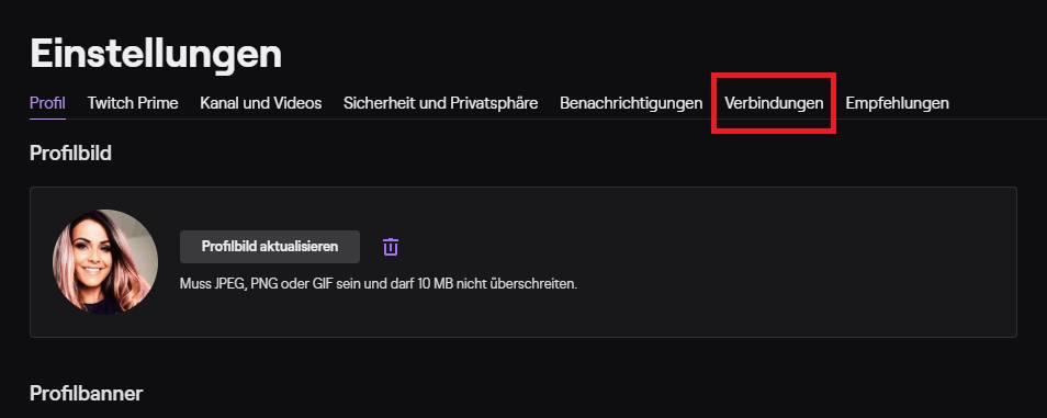 Twitch mit Steam verbinden im Webbrowser