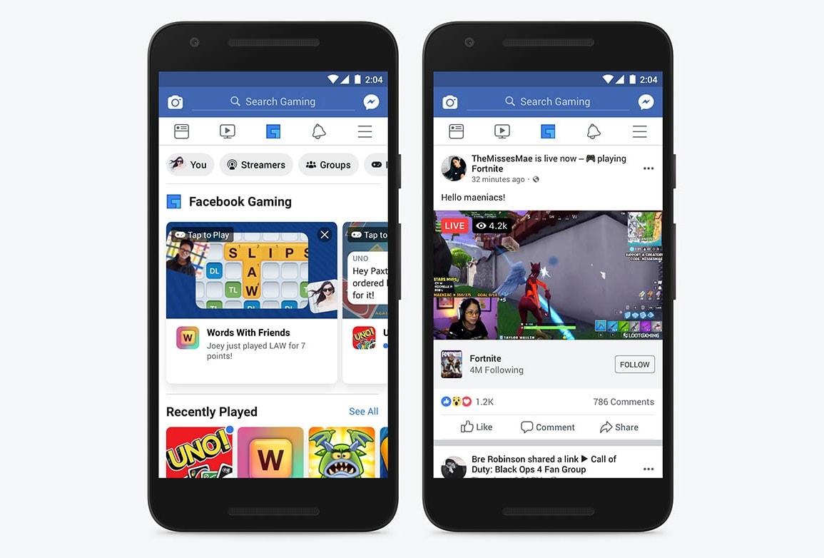 Facebook Gaming auf dem Smartphone