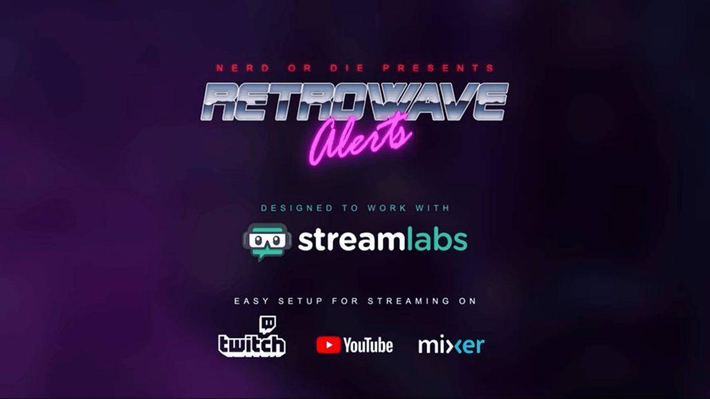 Top Twitch Overlay Retrowave von nerdordie.com