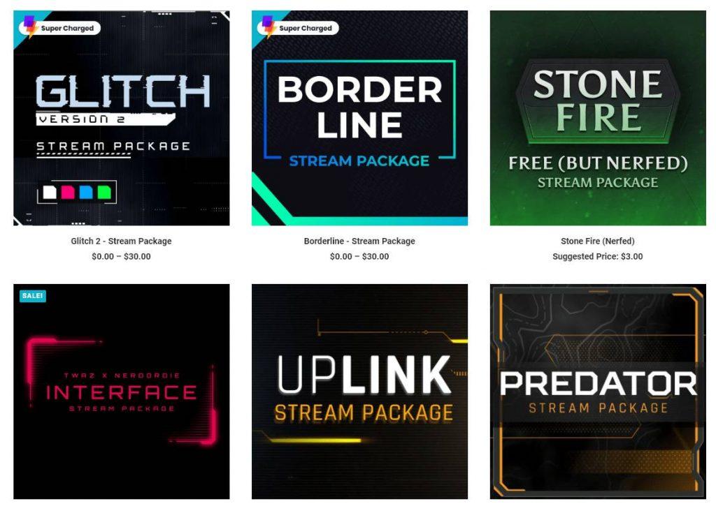 Top Twitch Overlay Design Beispiele von nerdordie.com