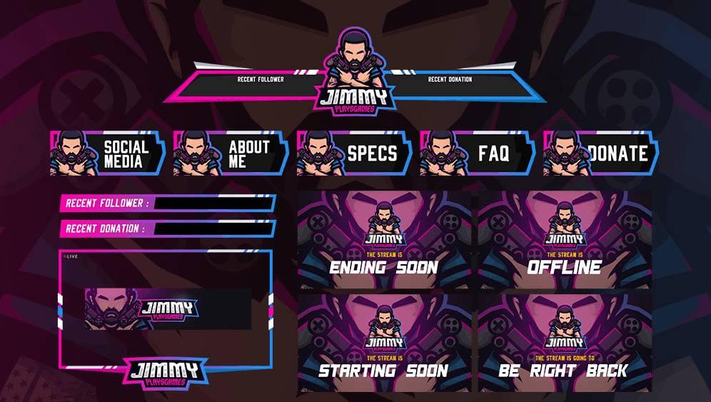 Custom Twitch Overlay Design auf Fiverr