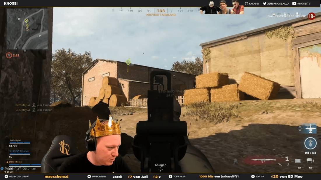 Die alten Freunde Knossi und MontanaBlack gemeinsam in Call of Duty