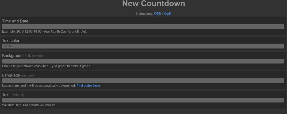 Besonders einfach wird ein Twitch Timer über diese Webseite erstellt