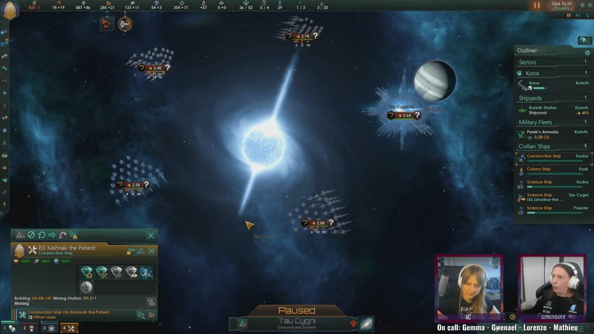 Live-Stream von Stellaris als Teil des Guerrilla Collective