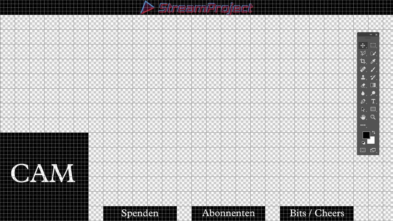 Twitch Overlay erstellen in Photoshop