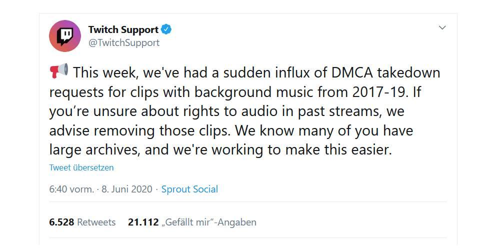 Neue DMCA-Attacken auf Twitch