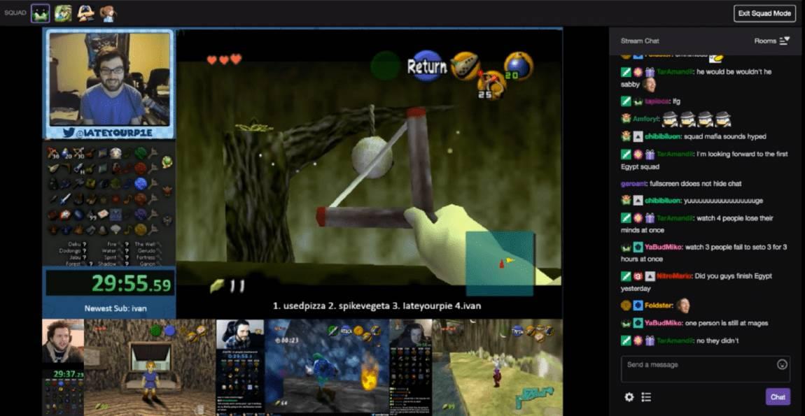 Screenshot von einem der ersten Squad Streams überhaupt