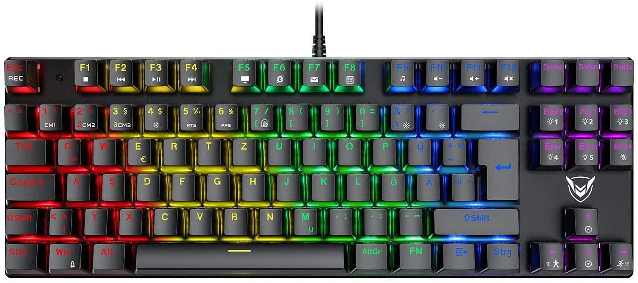 Mechanische Gaming Tastatur mit kompaktem Design