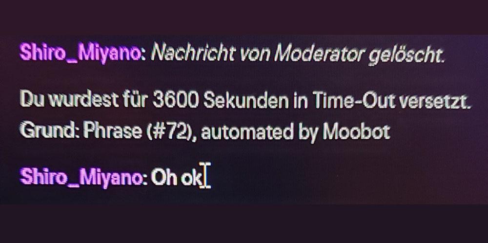 Moobot im Einsatz gegen Spam