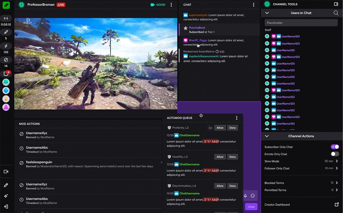 Übersicht aller Twitch Mod Befehle