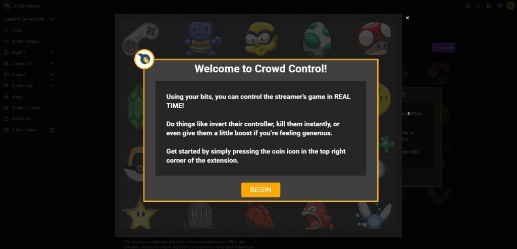 Mit Crowd Control können Zuschauer direkt auf das Spielgeschehen einwirken.