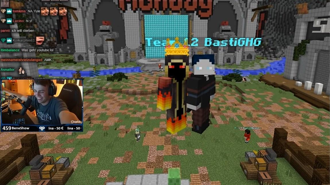 Papaplatte mit BastiGHG bei einem $12000 Minecraft Turnier