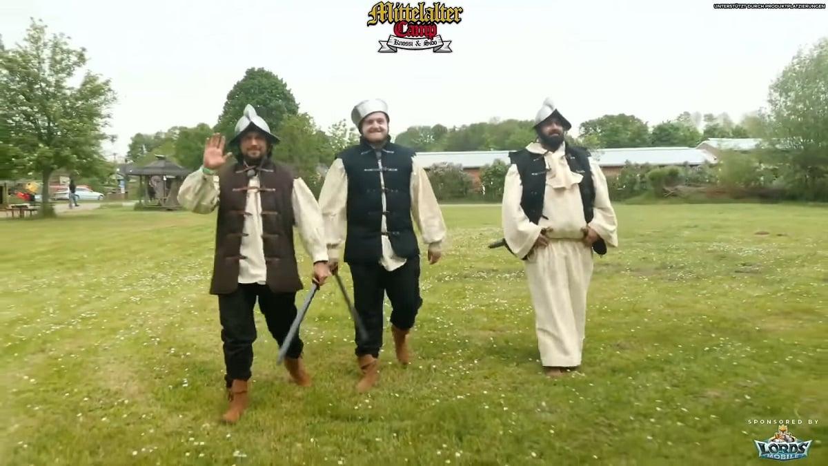 Trymacs, Slavik und Faisal Kawusi stoßen zum Mittelaltercamp auf Twitch